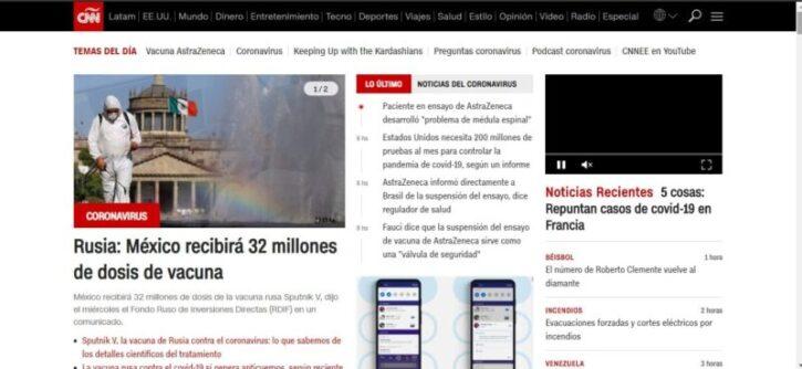 diseño marca cnn en sitio web wordpress