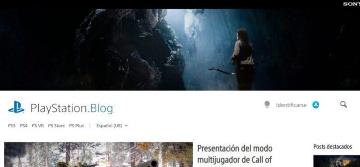 diseño de sitio web de playstation en wordpress