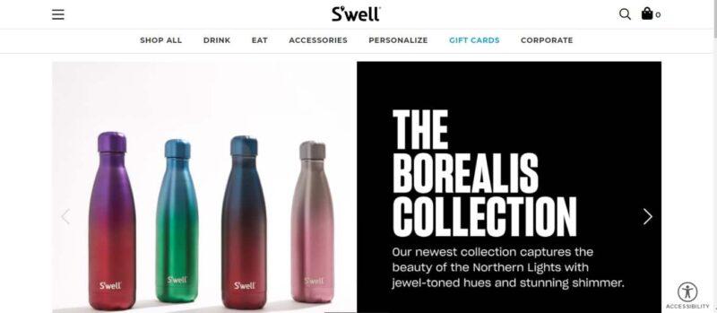 diseño de sitio web de marca swell en wordpress
