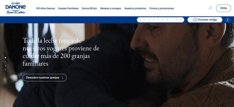 diseño de sitio web danone en wordpress