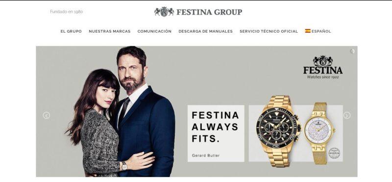 diseño de sitio web de festina en wordpress