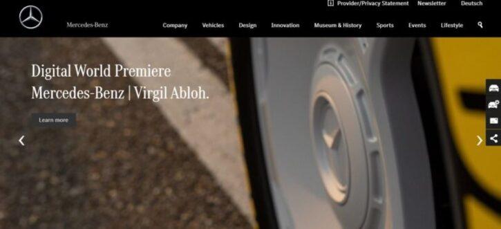 diseño de sitio web de mercedez bend en wordpress