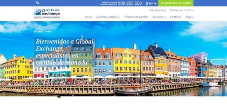 diseño de sitio web global exchange en wordpress