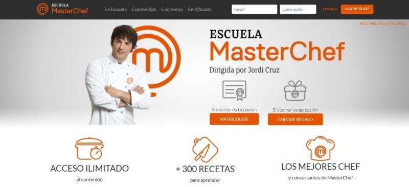 diseño de sitio web wordpress de masterchef