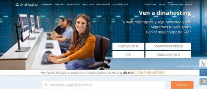 hosting dinahosting y sus beneficios para tu pagina web