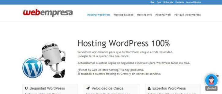 hosting webempresa y sus beneficios para tu pagina web