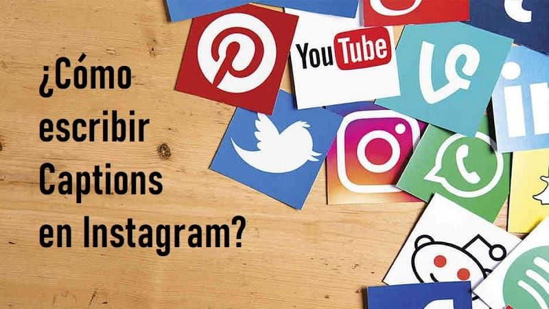 cómo escribir captions en instagram