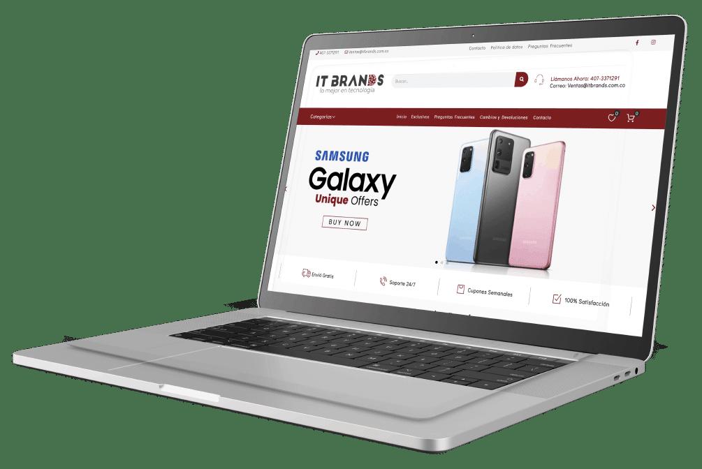 laptop con tienda online