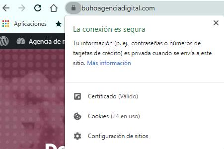 certificado SSL buho